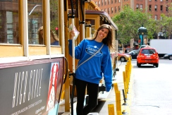 Riding the Trolley car, San Francisco 2015