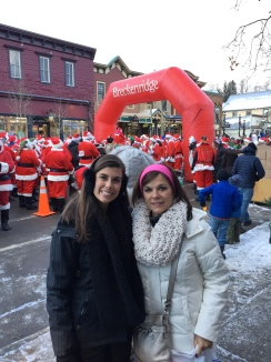 The Race of the Santas -Downtown Breckenridge- December 2015